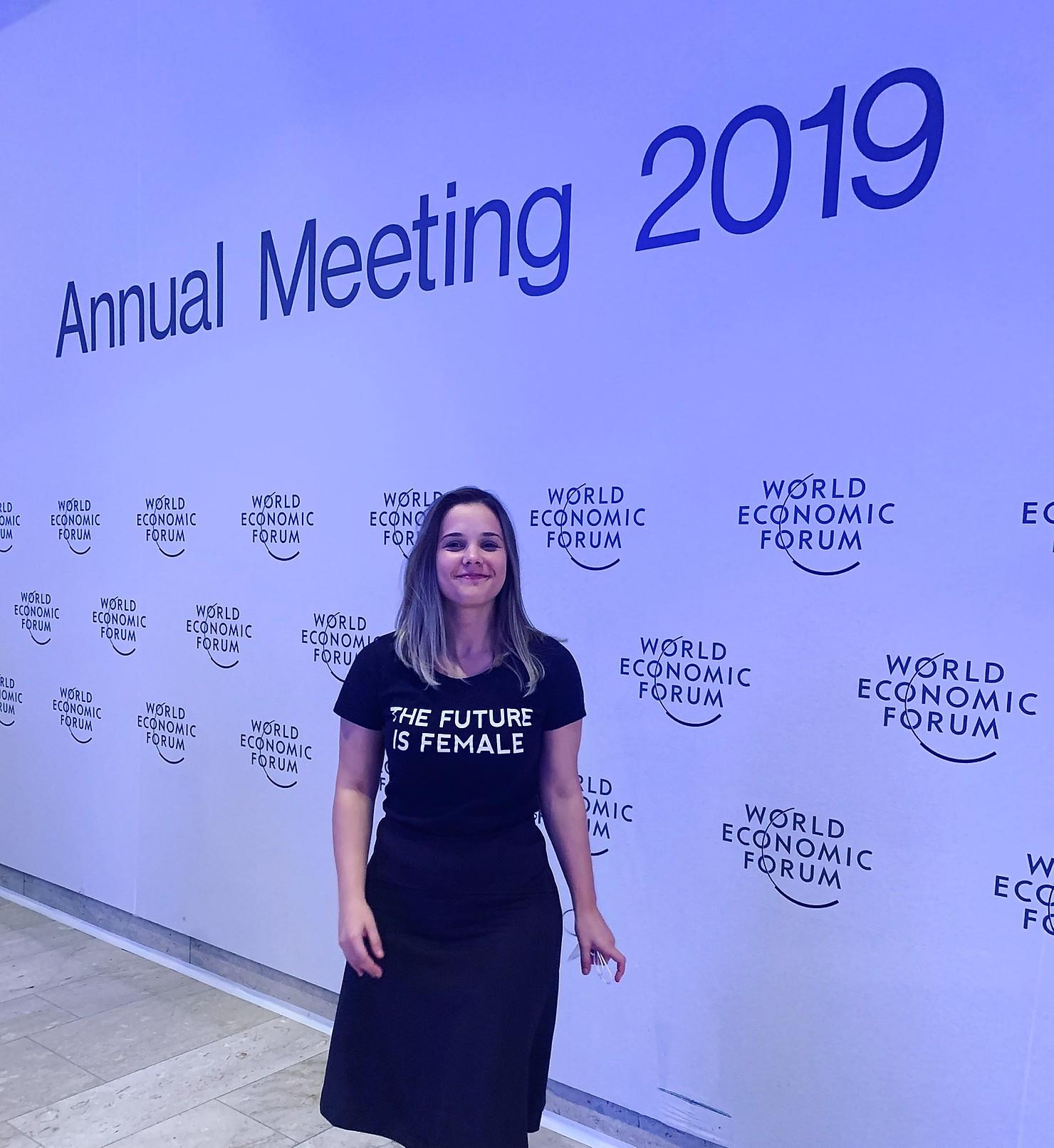 Fundadora da Blend Edu durante o Encontro Anual do Fórum Econômico Mundial em 2019