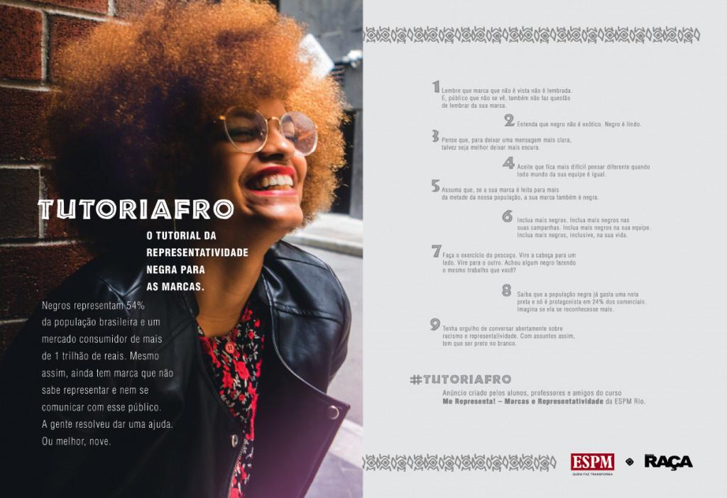 #Tutoriafro: tutorial da representatividade negra para as marcas (criado por alunos e professores da ESPM)